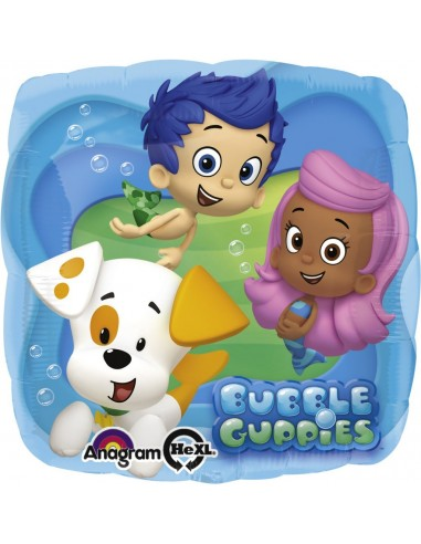 Globos Foil Bubble Guppies - Cuadrado 45cm - A-2744601
