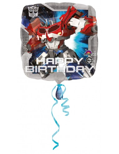 Globos Foil Transformers Happy Birthday - Cuadrado 45cm - A-2933201