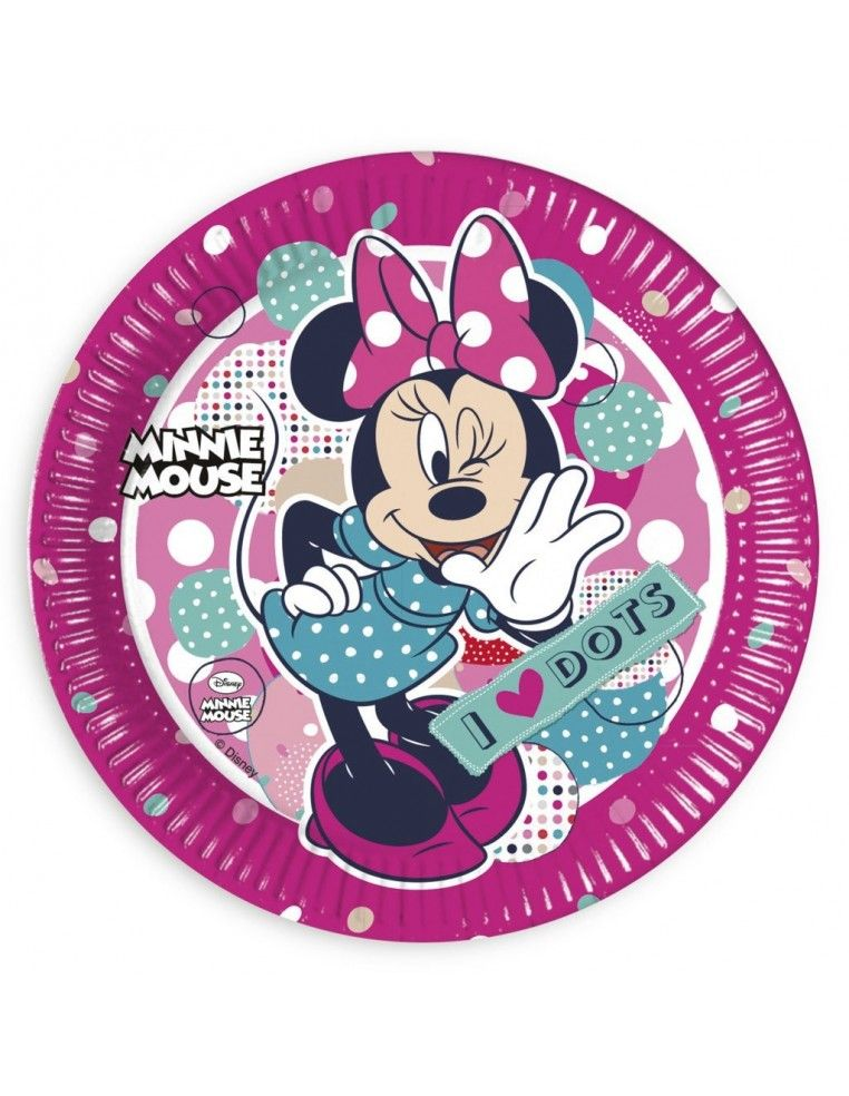 Platos Minnie Mouse Dots de 23cm