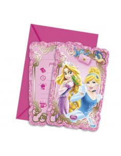 Invitaciones Princesas Disney Animals con Sobre