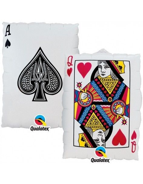 Globo Queen Of Hearts Ace Of Spades - Forma 75cm Foil Poliamida - Q16310