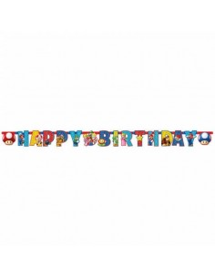 Guirnalda Super Mario Happy Birthday de 180x15cm