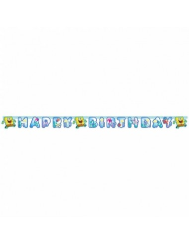 Guirnalda Bob Esponja Happy Birthday de 180x15cm