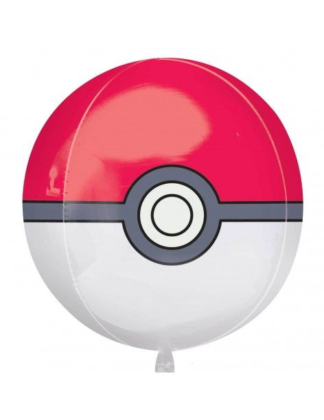 Globo Pokemon Pokeball Esferico 40cm