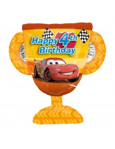 Globo Cars Trofeo 4th HBD Forma 68cm