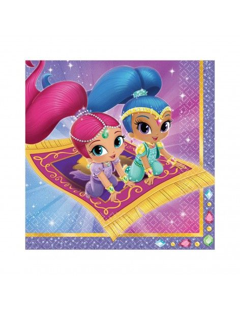 Servilletas Shimmer and Shine de 33x33cm 16 UDS