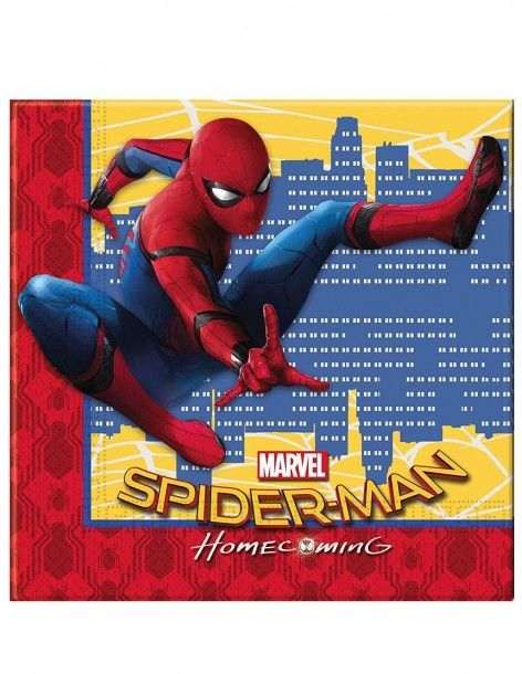 Servilletas Spiderman Homecoming de 33x33cm - 20 UDS