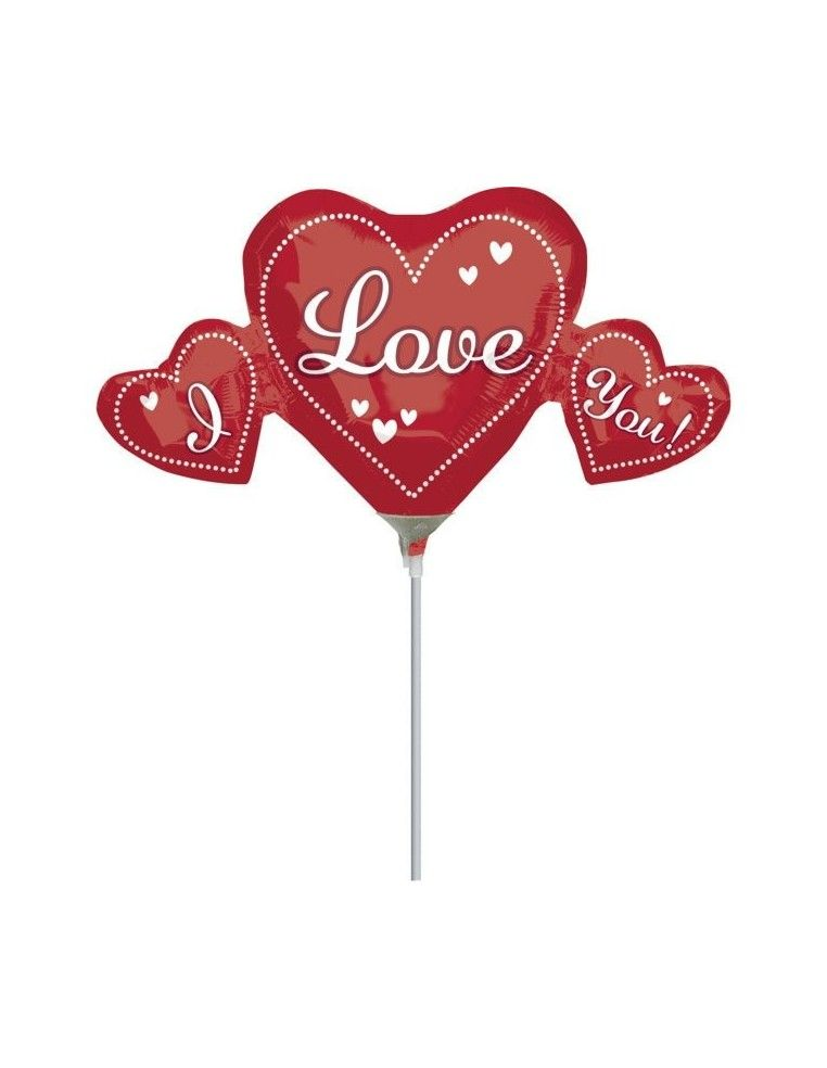 Globo I Love You Trio - Mini Forma 23cm Foil Poliamida - A1913102