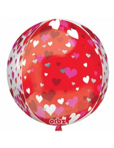 Globo Floating Hearts Esfera 40cm