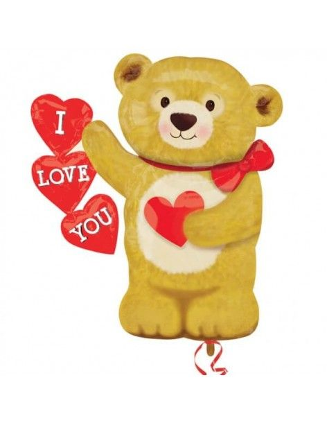 Globo Love Bear Hearts Forma 86cm
