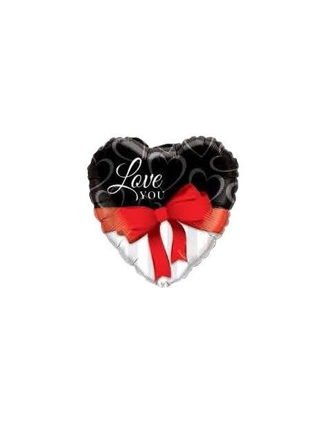 Globo Love You Red Ribbon - Corazon 45cm Foil Poliamida - Q21647