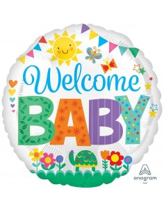 Globo Welcome Baby Cute Icons Redondo 45cm