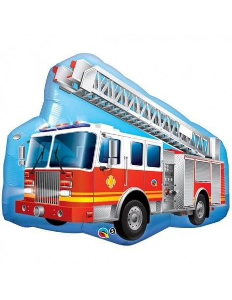 Globo Red Fire Truck - Forma 91cm Foil Poliamida - Q16466