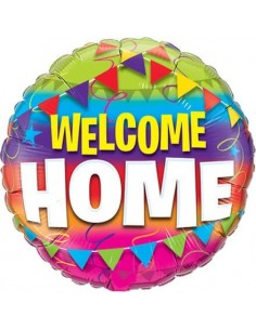 Globo Welcome Home Pennents - Redondo 45cm Foil Poliamida - Q45245