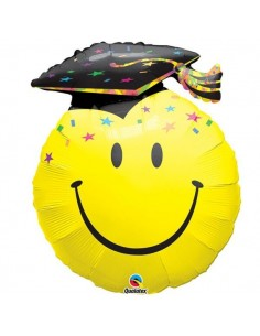 Globo Smile Face Party Grad - Forma 91cm Foil Poliamida - Q40379