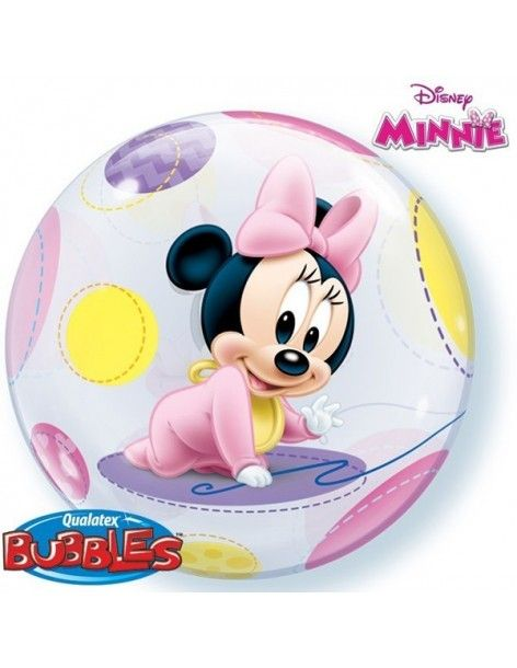 Globo Baby Minnie - Bubble Burbuja 55cm - Q16430