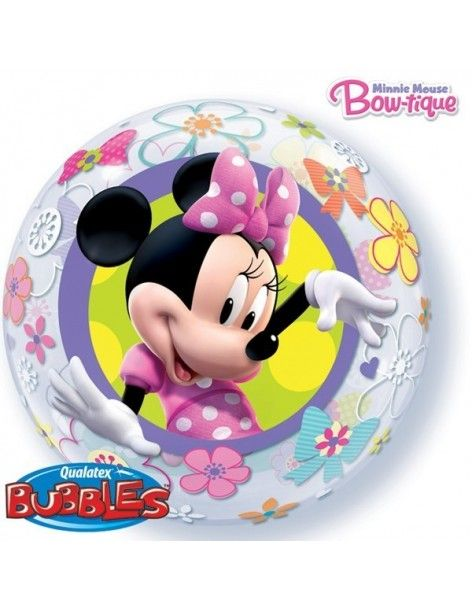 Globo Minnie Mouse Bow-tique - Bubble Burbuja 55cm - Q41065