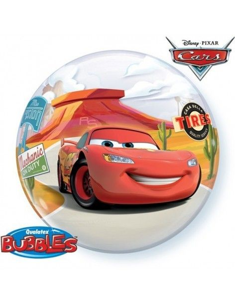 Globo Lightning McQueen and Matey - Bubble Burbuja 55cm - Q10185