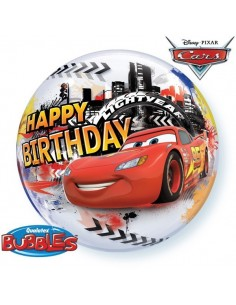 Globo Lightning McQueen Birthday - Bubble Burbuja 55cm - Q14759