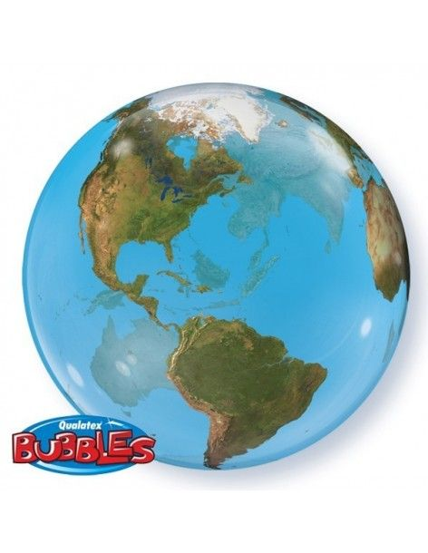 Globo Planet Earth - Bubble Burbuja 55cm - Q16871