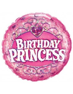 Globo Birthday Princess - Mini 23cm Foil Poliamida - Q41939