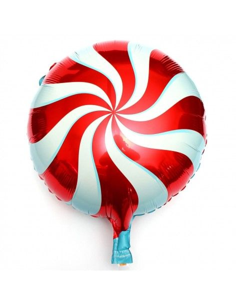 Globo Candy Swirl Red - Mini 23cm Foil Poliamida - Q50989