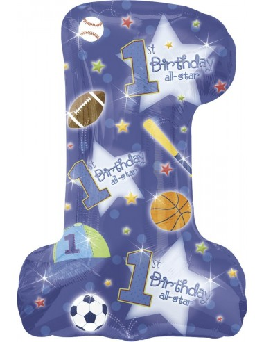 Globo First Birthday All-Star Forma 71x48cm Foil Poliamida -A11912801