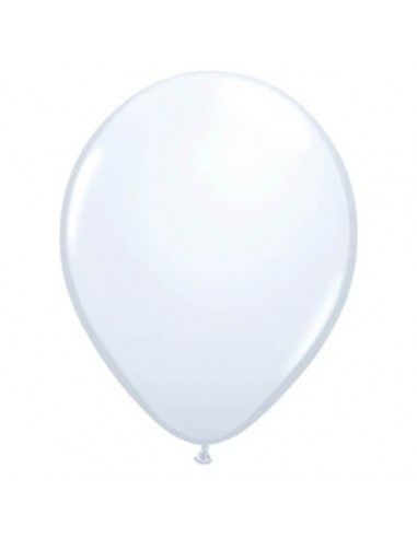 Globo Qualatex Redondo 13cm Pastel Blanco