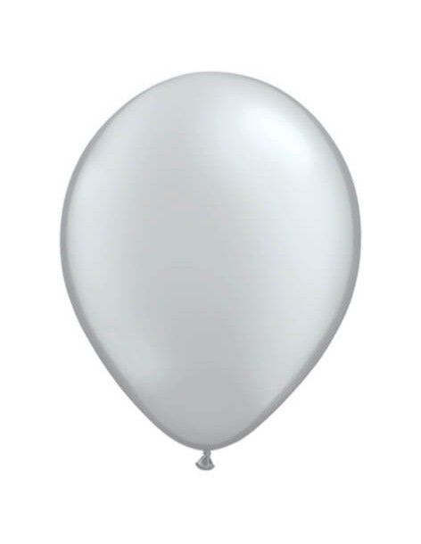 Globo Qualatex Redondo 13cm Metalizado Plata