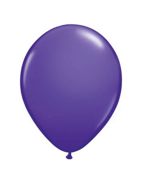 Globo Qualatex Redondo 28cm Pastel Purpura