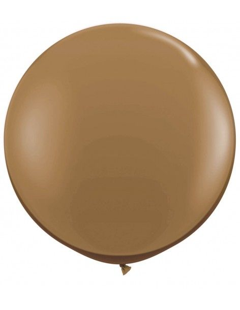 Globo Qualatex Redondo 40cm Pastel Marron Claro