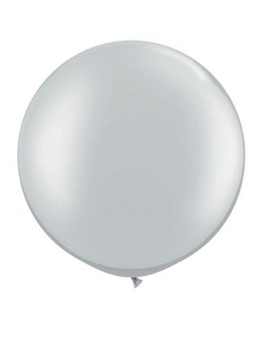 Globo Qualatex Redondo 40cm Metalizado Plata