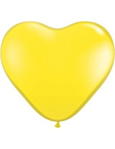 Globo Qualatex Corazon 15cm Pastel Amarillo