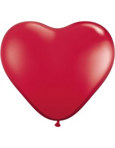 Globo Qualatex Corazon 91cm Cristal Rojo Rubi