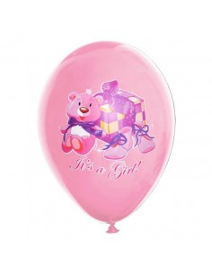 Globos Its a Girl Latex Redondos 30cm CMYK