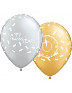 Globo New Year Confetti Count Redondo 28cm