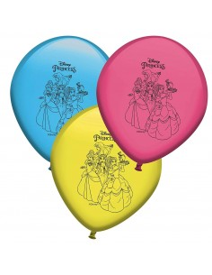 Globos Princesas Disney Latex en 25cm - 8 UDS