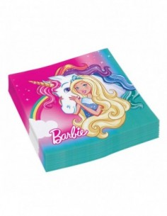 Servilletas Barbie 33x33cm 20 UDS