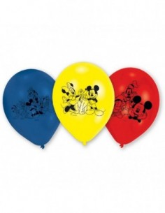 Globos Mickey Mouse 25cm 6 UDS