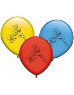 Globos Spiderman Latex en 25cm