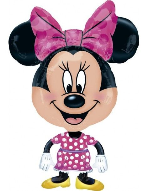 Globo Buddies Minnie Air Walker 78x55cm Foil Poliamida 2637001