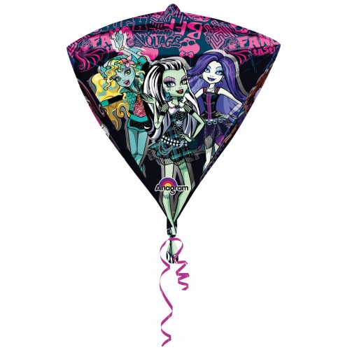 Globo Monster High - Diamante 3D 43cm Foil Poliamida - A2845801