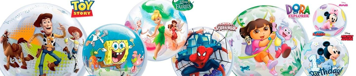 Globos Bubble o Burbujas con Licencias Disney de Qualatex